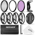 Neewer 62MM Professional UV CPL FLD Lens Filter and Close-up (+1, +2, +4, +10) Accessory Kit for Lenses with a 62mm Filter Size