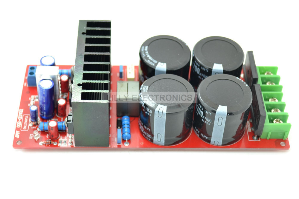 YJ-IRAUD350 IRS2092 Class D AMP board Assembled 700W 4ohm Mono Audio Power 500va toroidal transformer match for mj2001 a50m and iraud350 amp board