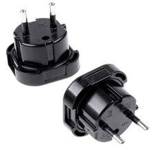 New Universal Travel UK to EU Euro Plug AC Power Charger Adapter Converter Socket Black Power Plug Adaptor Connector