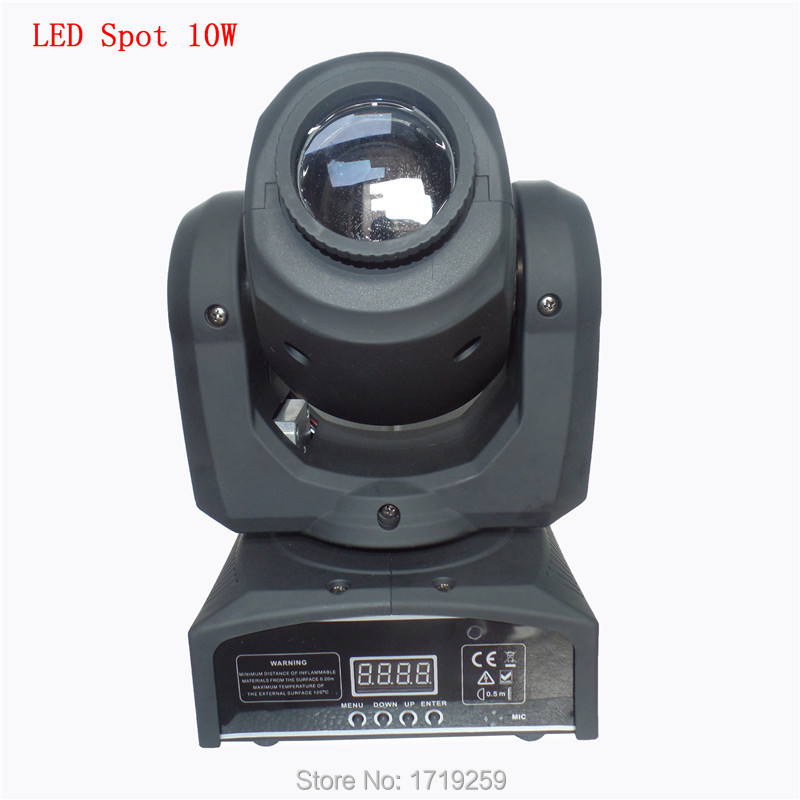 6pc/lot DMX Stage Spot Moving 8/11 Channels 10W CREE High Power LED Mini Moving Head Fast Shipping niugul dmx stage light mini 10w led spot moving head light led patterns lamp dj disco lighting 10w led gobo lights chandelier