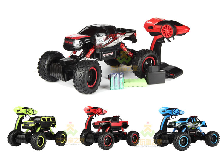 radio-controlled cars Top  Remote Control Rock Crawler, RC Monster Truck 4WD, Off Road Vehicle, 2.4Ghz Batteries Included radio controlled toys