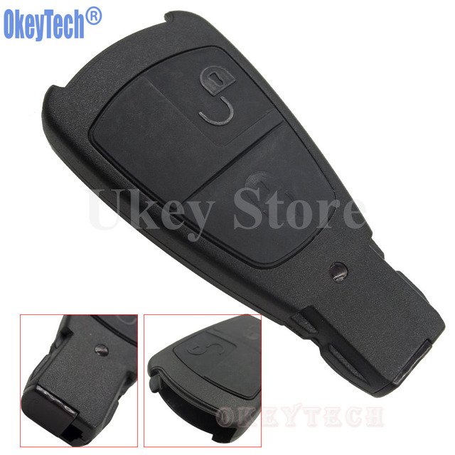 OkeyTech New Design Replacement Key Shell For Mercedes Benz Remote Control  Key Case 2 Buttons Smart