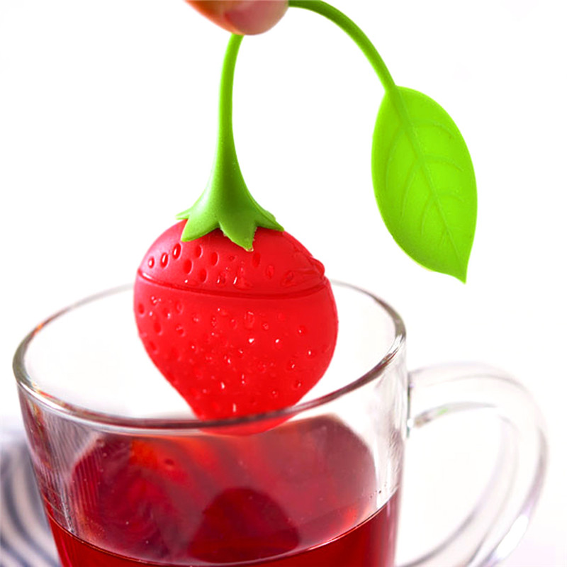 Creative Silicone Strawberry Tea Infuser Loose Leaf Tea Strainer Herbal Spice Infuser Filter Tools