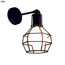 IWHD Iron Metal Industrial Wall Light Fixtures Home Lighting Loft Style Edison Vintage Wall Lamp Sconce Luminaire Lampara Pared iwhd vintage glass lampara pared creativeretro iron loft wall lamp black bedroom lighting stairs beside reading light fixture