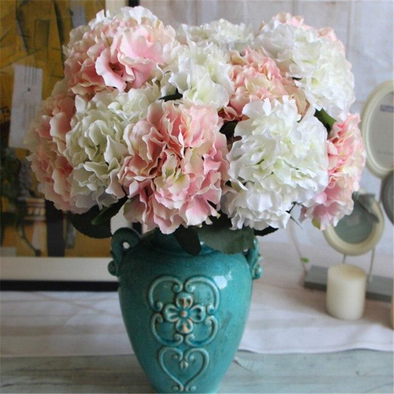 6pcslot 48cm Good Quality Artificial Hydrangea Silk Flowers For