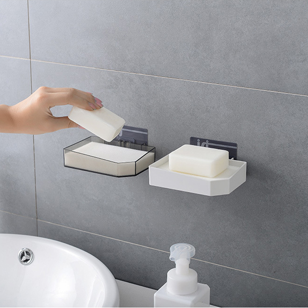 Bathroom Shower Soap Box Dish Storage Plate Tray Holder Case Suction Dispensers