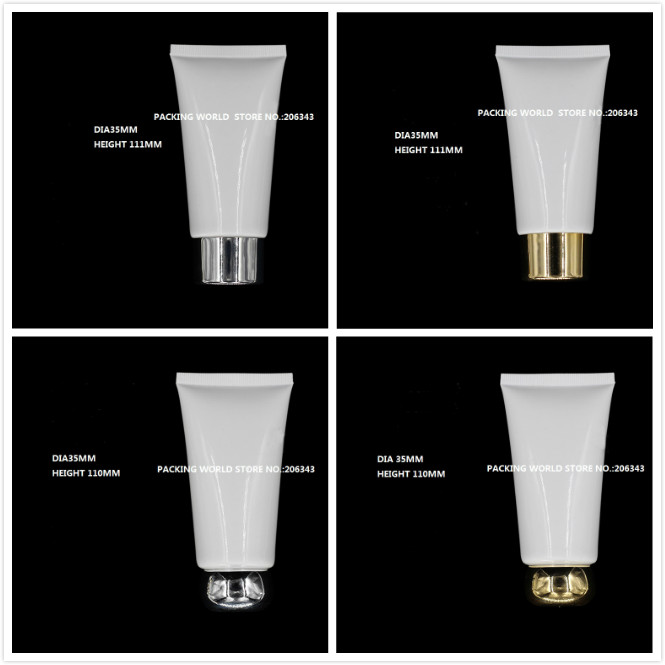 50ml white soft tube for mildy wash butter handcream night cream mask cream anti UV cream