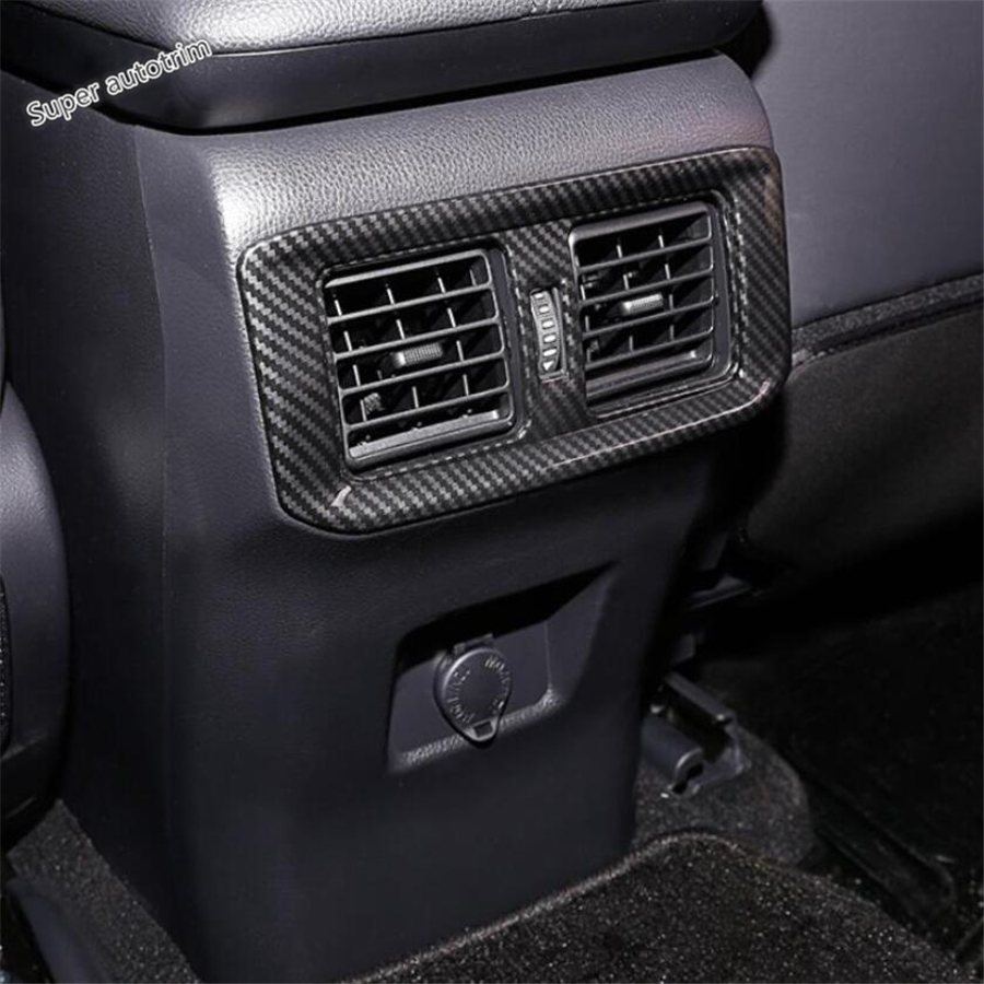 1X Silver ABS Rear Back AC Air Vent Outlet Trim Cover For 2018 Jeep Wrangler JL
