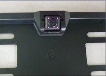 + Cámara marco de la matrícula con LED IR, lincense europea, marco de la placa de la cámara para el coche opinión posterior del revés aparcamiento