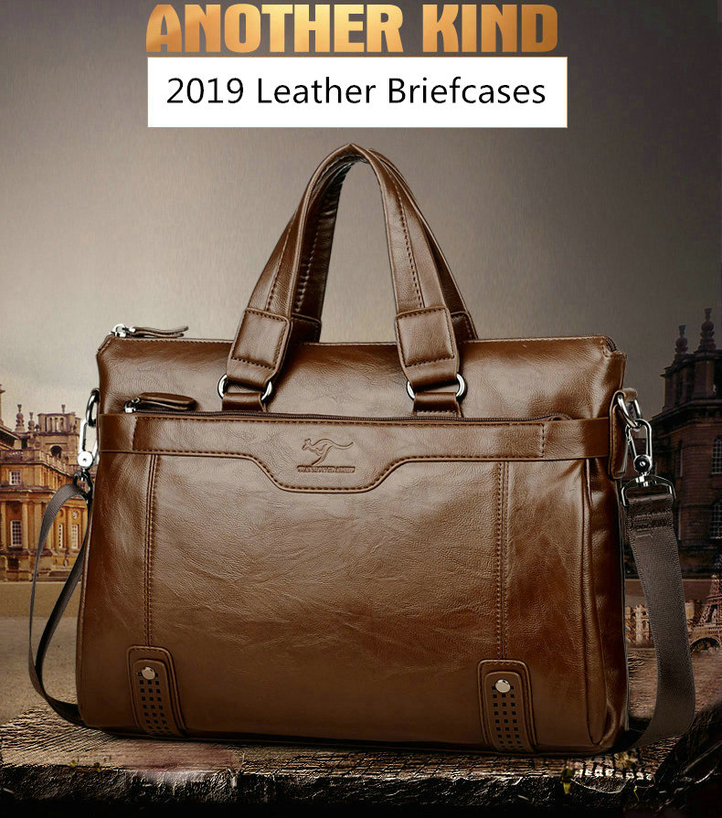 HTB1rzBBelWD3KVjSZKPq6yp7FXaO Cowhide Leather men's Briefcase men laptop male messenger bag Men's shoulder bags briefcases for documents bag