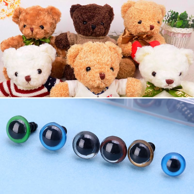 Crystal Plastic Safety Teddy Bear Eyes Inc Washers Soft Toy Making Brown 12mm