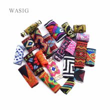 12PCS 8-12mm Hole Colorful Fabric Cloth Hair Dreads Dreadlock Beads Tube Ring Braid Clips Cuff Braiding Extension Accessories(China)