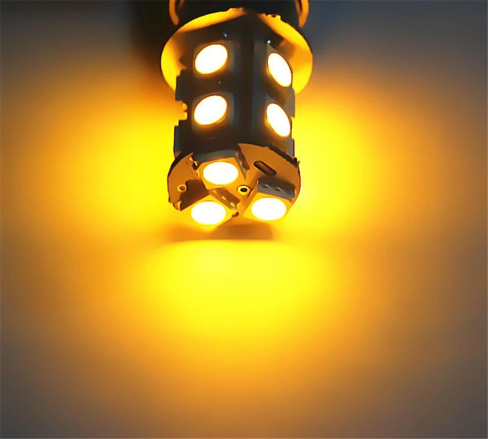 7443 7440 13 SMD 5050 Blanco puro Amarillo ámbar ROJO LED Bombilla - Luces del coche - foto 6
