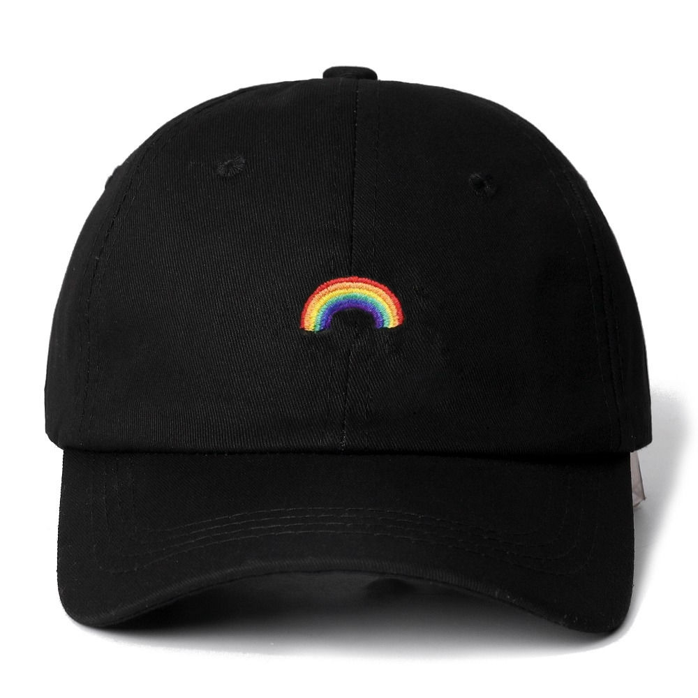 High Quality Rainbow Snapback   Cap   Cotton   Baseball     Cap   For Men Women Adjustable Hip Hop Dad Hat Bone Garros Casquette