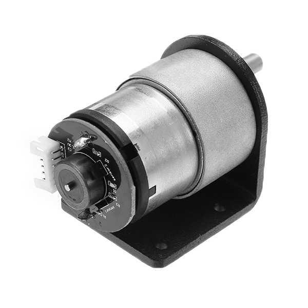 エンコード歯車減速機モーターブラケット DC 12 V 320 rpm 電動ギアボックスモーター