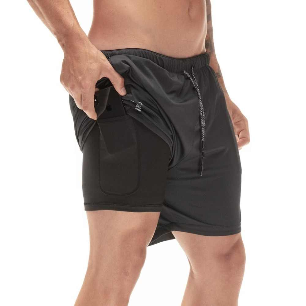 1461fe5294 ... Quick Drying Running Shorts Men's 2 in 1 Security Pocket Shorts Men  Leisure Shorts Hips Hiden ...