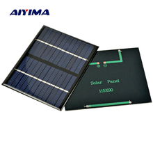 AIYIMA 2Pcs 1.5W 12V Solar Panels DIY Solars Panel Polysilicon Panels Flexible Solar Power Bank Charger 115x90MM