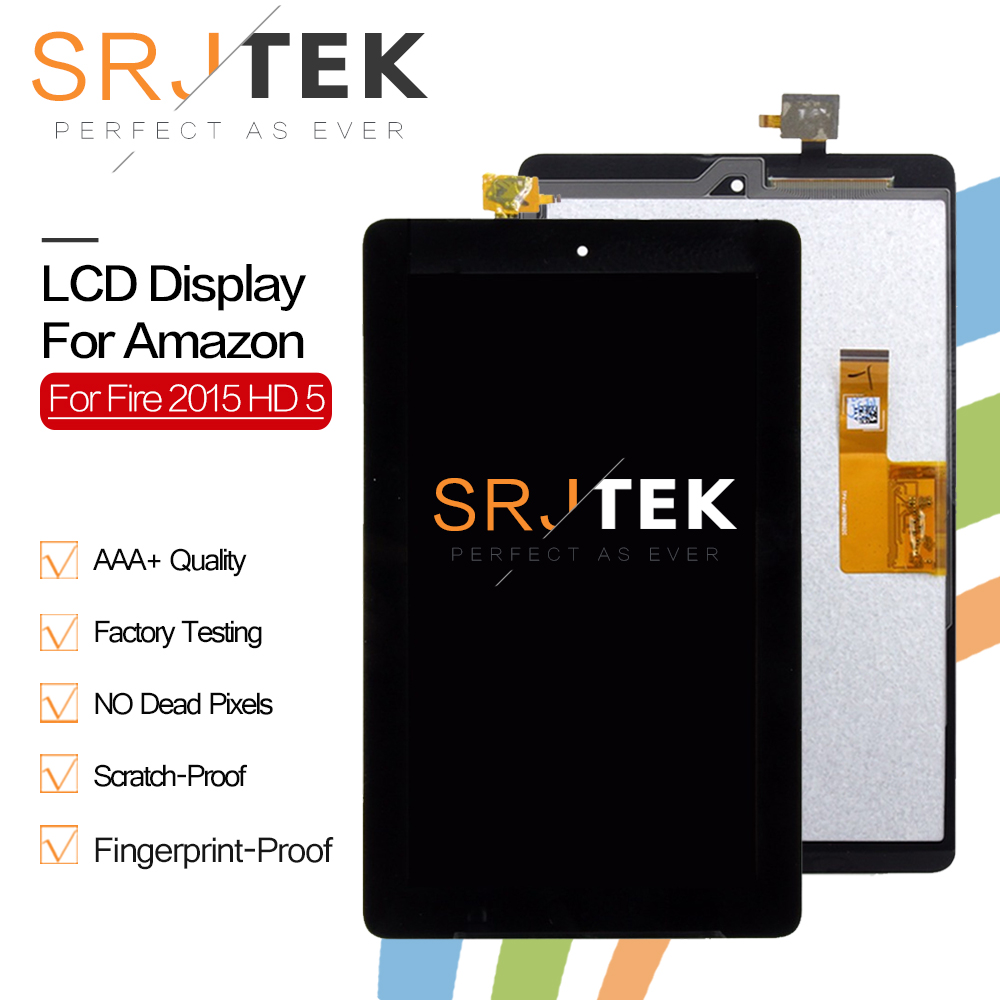 Srjtek 7 For Amazon Kindle Fire 7 2015 HD5 HD 5 LCD Display Screen Monitor Matrix + Digitizer Touch Panel Screen Glass AssemblySrjtek 7 For Amazon Kindle Fire 7 2015 HD5 HD 5 LCD Display Screen Monitor Matrix + Digitizer Touch Panel Screen Glass Assembly