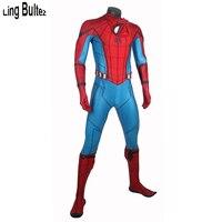 Ling Bultez высокое качество рельеф Человек паук костюм Homcoming Человек паук костюм на заказ том Человек паук спандекс костюм новейший лучший