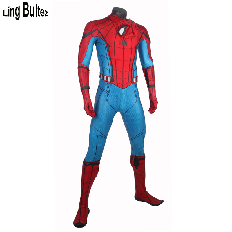 Ling Bultez High Quality Relief Spiderman Suit Homcoming Spiderman Costume Custom Made Tom Spiderman Spandex Suit Newest Best