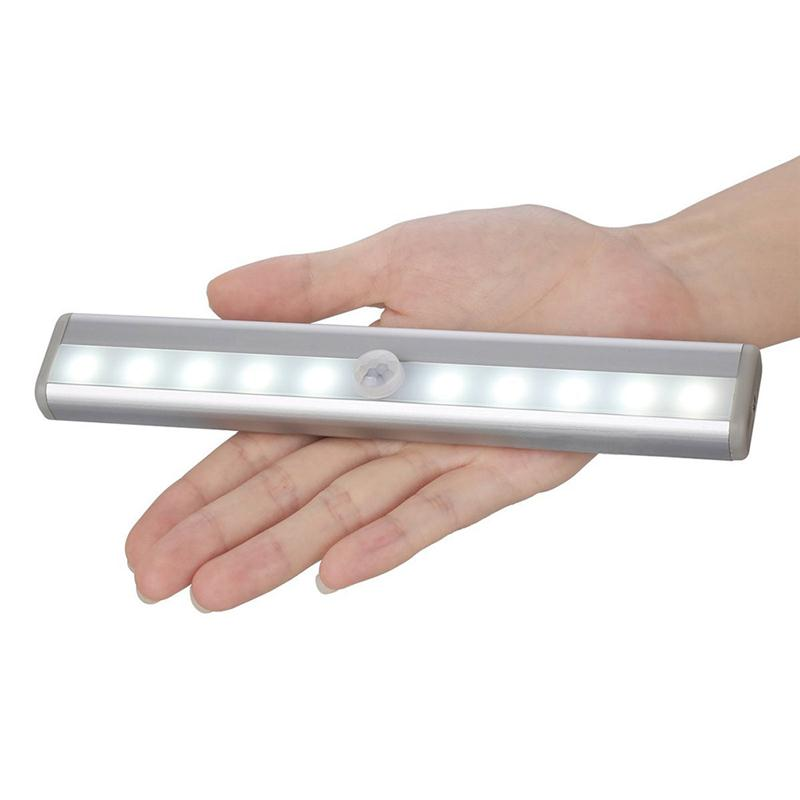 Portable stick on 10 led ir wireles motion sensor led night light portable stick on 10 led ir motion sensor led night light sensing battery operated closet cabinet wireles lamp aloadofball Image collections