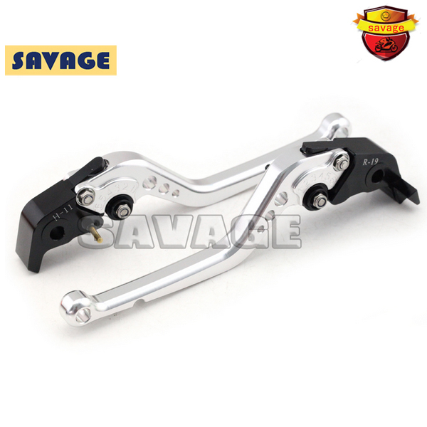 For SUZUKI DL650-V-strom GW250 SFV650 Gladius Motorcycle CNC Billet Aluminum Long Brake Clutch Levers Silver motorcycle cnc aluminum brake clutch levers for suzuki sfv650 gladius 2009 2015 dl650 v strom 2011 2012 gsr600 2006 2011