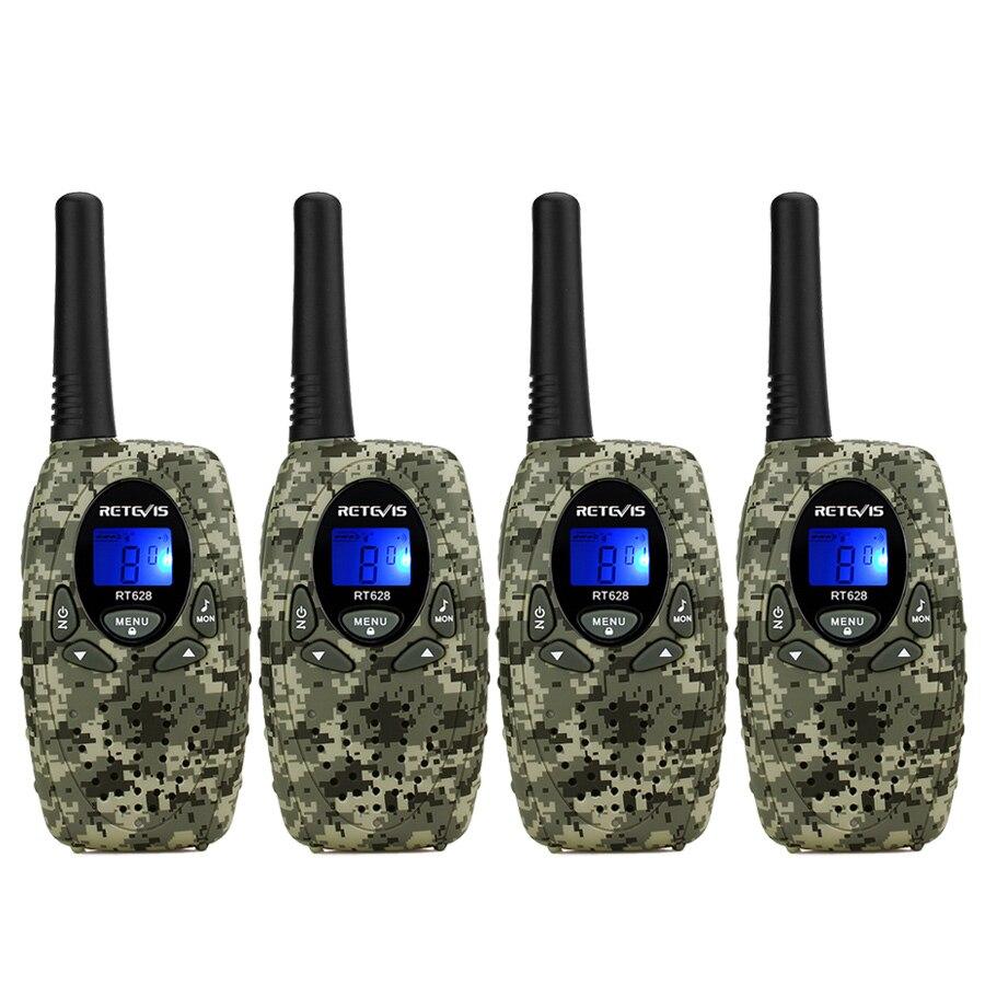 4 pcs Mini Cores Retevis Walkie Talkie Para O Miúdo 4 RT628 0.5 w UHF PMR446 Display LCD Portátil Amateur rádio em Dois maneira de Rádio Brinquedos