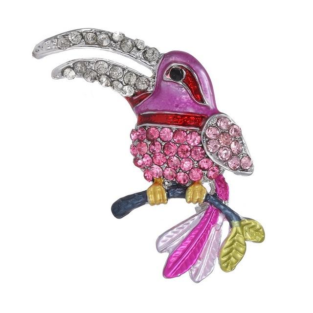 Crystal Bird  Brooch Pins For Women