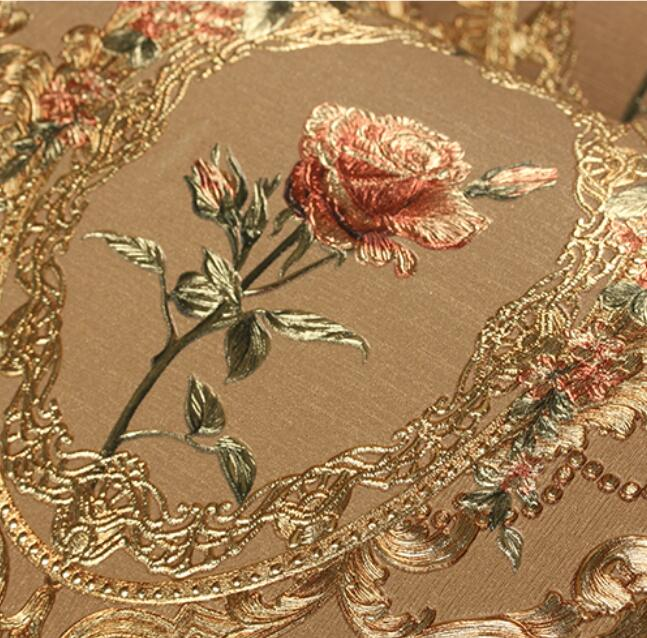 3d Wallpapers For Walls Price In Pakistan 3d Red Flower Wallpaper Roll 3d Foil Embossed Gold Rose