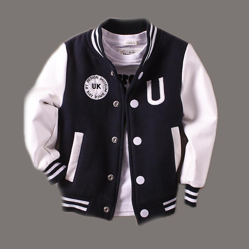 Spring Autumn Jackets for Boys Girls Classics Letter Children Baseball Outerwear 2 3 4 5 6 7 8 Years Kids Coat Black Red kids jackets for girls spring autumn style toddlers children clothing solid casual 2 3 4 5 6 7 8 year girls coat gray navy