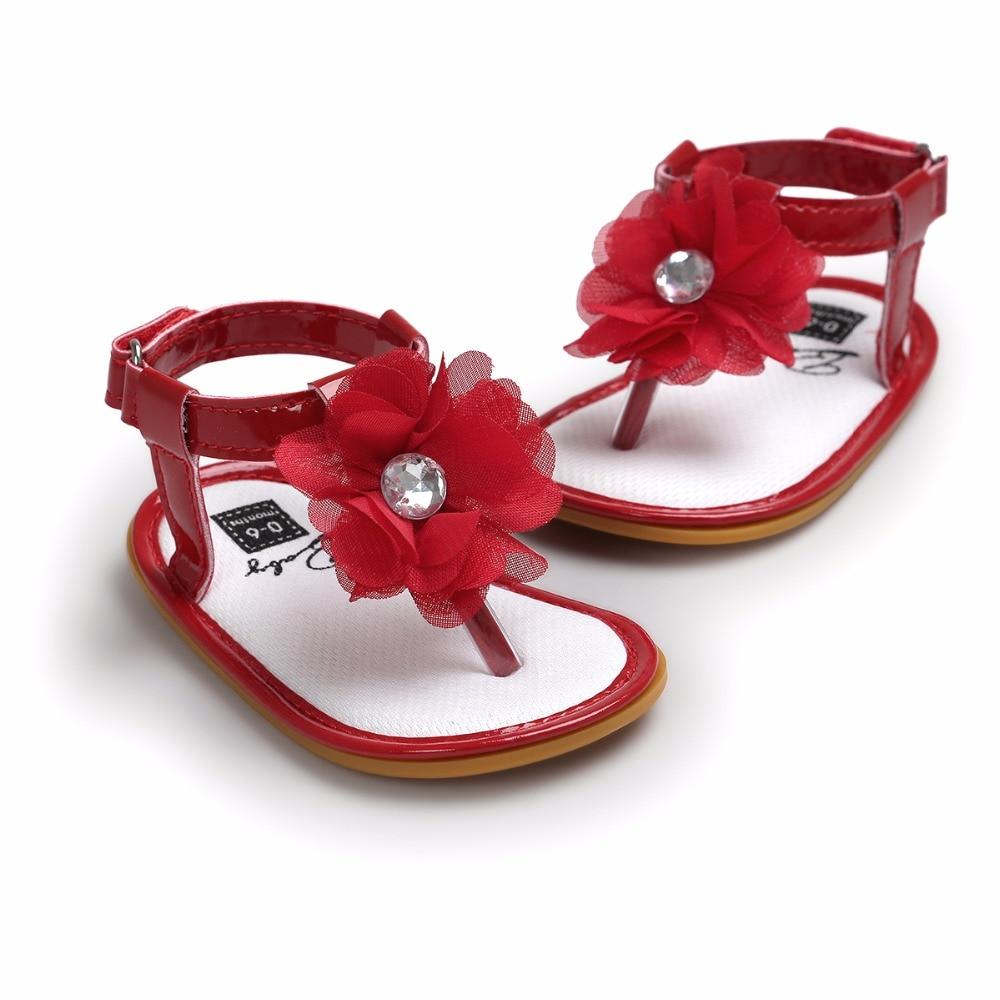 Ny design mode stil baby sommar sandaler klämskor med stora blommor - Bäbis skor