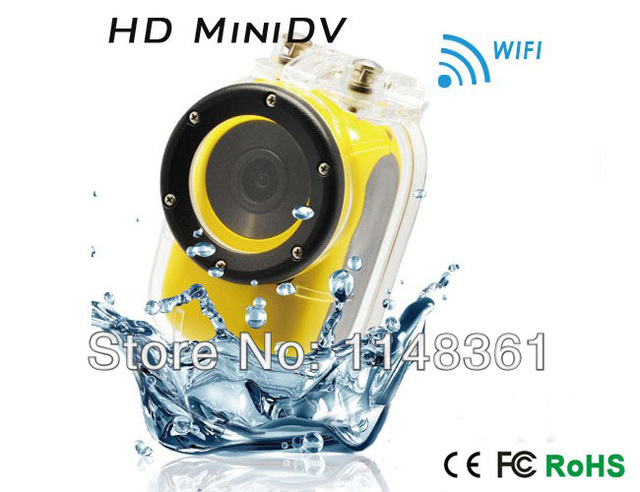 New Wifi enabled HD1920x1080P Bike Motorcycle camera 30 m waterproof action sports helmet camera Free shipping