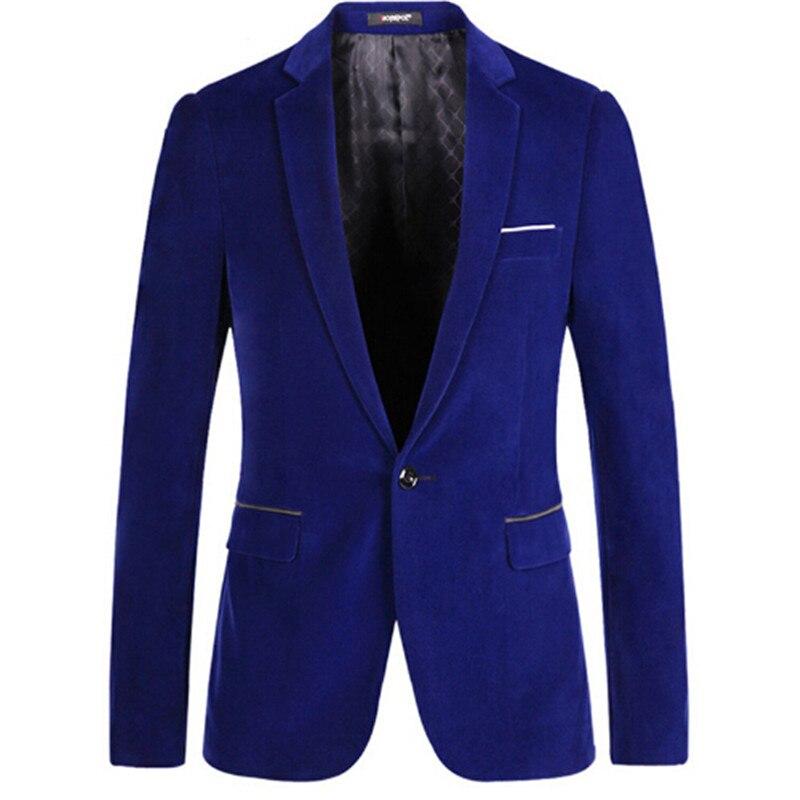 Fit Pleuche Bleu Manteau Xs Male Nouveau L S 1 2 Hommes Slim Casul Casual M Fashion Veste Costume Printemps Party Noir Xl Blazer Xxl 5axn6qOw8