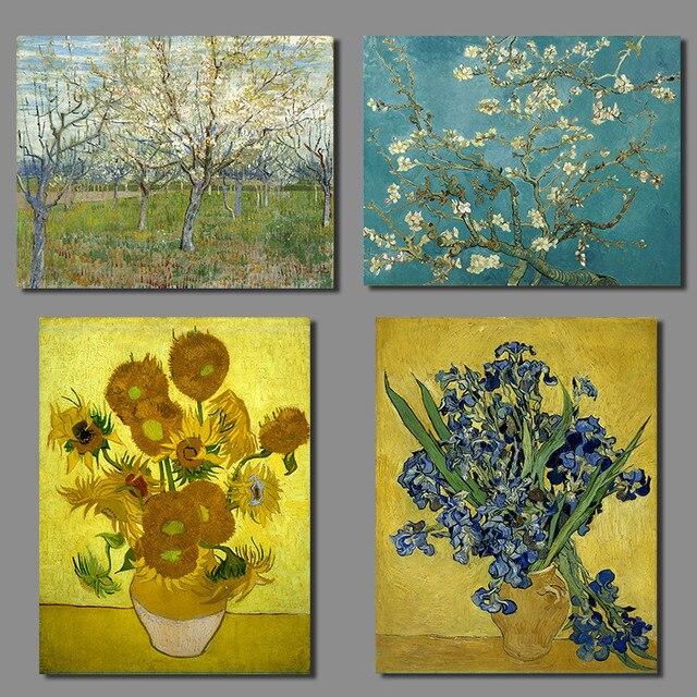 Van Gogh Irises Impressionist Almond Blossom Still Life Vase With