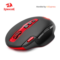 Redragon USB Wireless Gaming Mouse programmable 7200 DPI 10 buttons Laser ergonomic for overwatch gamer Mice laptop PC computer