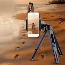 Pinza de teléfono móvil trípode Clip en vivo vídeo Horizontal Vertical autodisparador vástago fijo soporte Universal nk shopping