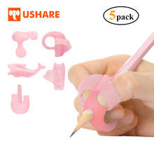 USHARE ручка захвата корректор письменный корректор силиконовые пальцы, чтобы узнать, чтобы написать 5 шт./компл. ручки Карандаш для детей почерк