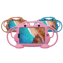 """Kid Silicone Monkey Case for Xiaomi Mi Pad 4 Plus 10.1 Shockproof Washable Stand Tablet Case for MiPad4 Plus 10.1"""" with Strap"""