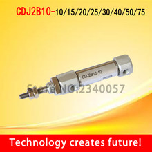 CDJ2B10-10/15/20/25/30/40/50/75/100 Miniature stainless steel mini cylinder double pneumatic cylinder 10MM B(China)