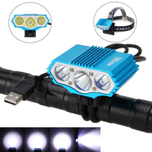 Waterproof USB 15000lm 3xT6 LED Bike Light Torch Front Bicycle Cycling Light Led Handlamp Headlight Torch Accessories