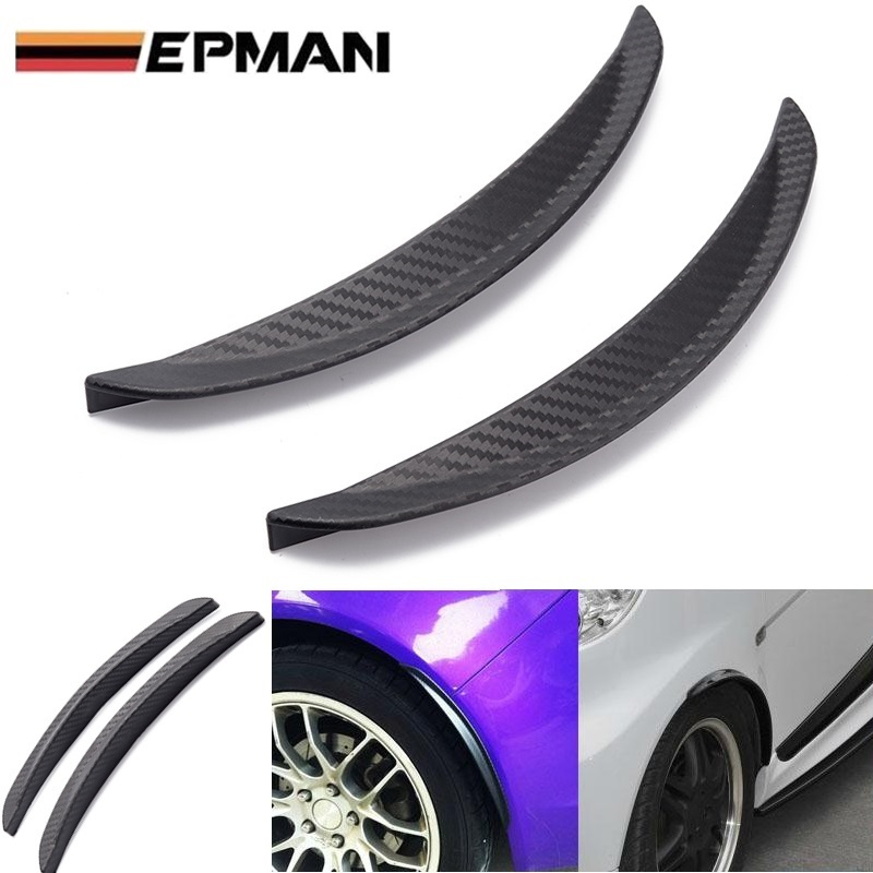 """1 Pair 10/"""" Carbon Texture Diffuser Fender Flares Lip For Toyota Wheel Wall"""