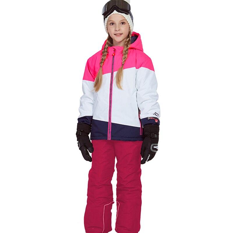 Phibee costume d'hiver pour fille enfants vêtements Ski costume chaud étanche coupe vent Snowboard ensembles hiver veste enfants vêtements - 5
