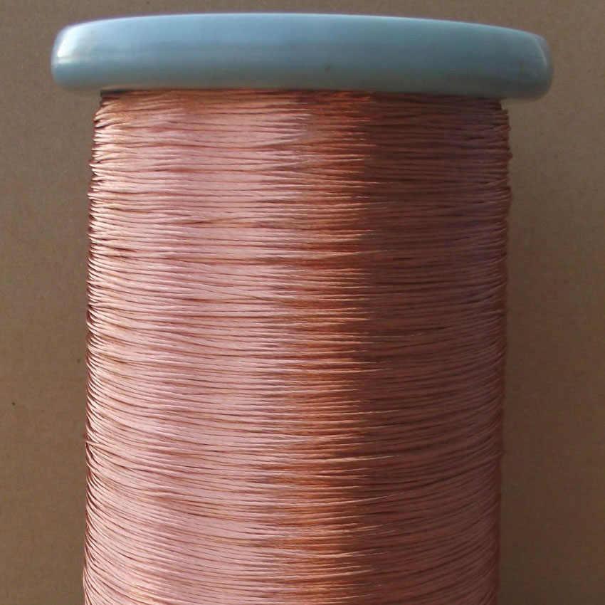 0.1x10 actions fil de Litz faisceau de lumière toronnage fil de cuivre émaillé toronné fil de cuivre multi-brins vendu au mètre