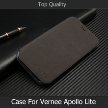 Luxury Pu Leather Cover for vernee apollo lite Case With Stand Holder Phone Bag Flip Cover