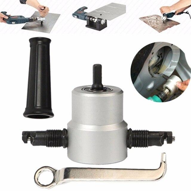 Cortador de hoja de corte de Metal, taladro turbo de tijera para boquilla en la cabeza del destornillador, herramienta eléctrica, punta, accesorio de taladro FreZ