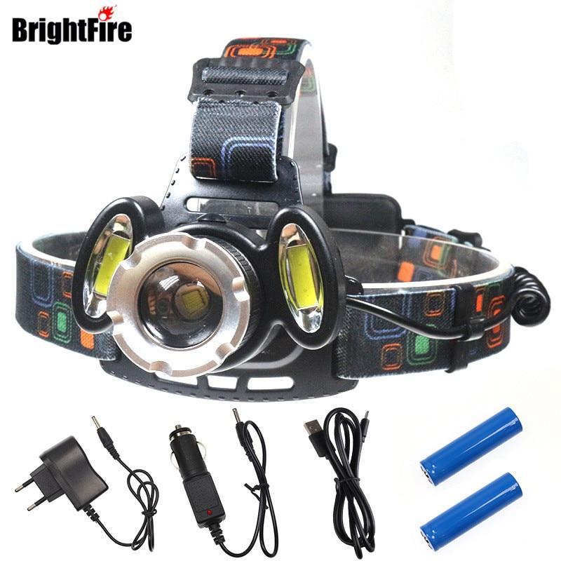 Brightfire 4 Modes LED Headlamp 8000LM CREE T6 + 2COB ...