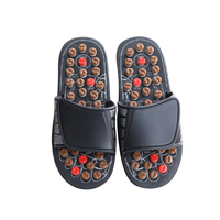 Rotating Tai Chi Foot Massage Slippers Health Shoe Slippers Sandal Reflexology Foot Massager Massage Relaxation Product MP0032