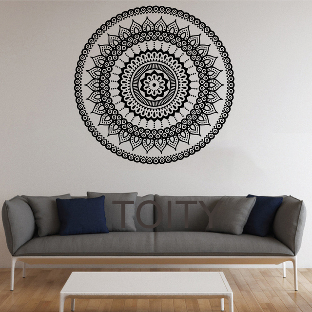 mandala wall stickers indian round pattern symbol vinyl decal