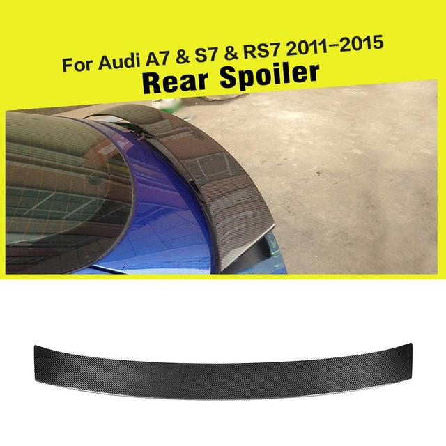 Car-Styling Carbon Fiber / FRP Auto Rear Trunk Spoiler Active Racing Wing Lip for Audi S7 A7 S-line RS7 2011-2015