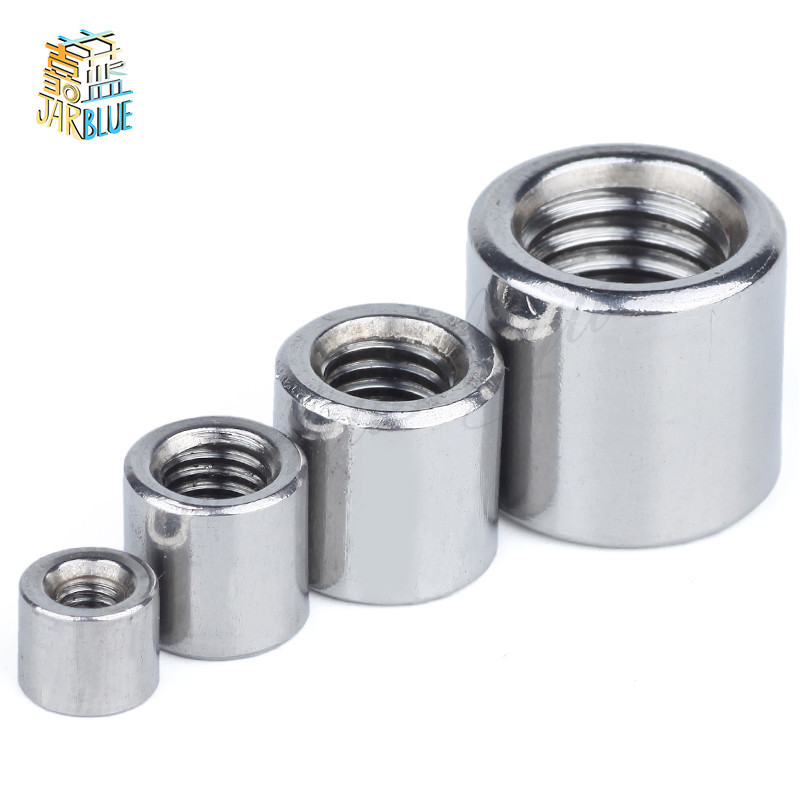 Free Shipping 304 stainless steel M3-M16 extension and thick round joint nut Cylindrical screw rod joint nutFree Shipping 304 stainless steel M3-M16 extension and thick round joint nut Cylindrical screw rod joint nut